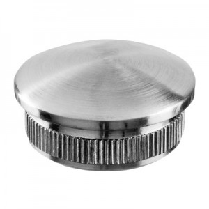 Q-Railing - Arched end cap, Easy Hit, tube Dia 12 mm x 1 mm, stainless steel 304 interior, satin [PK4]