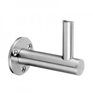 Q-Railing - Adjustable handrail bracket for wall, dist.=85mm, handrail Dia 42.4 & 48.3 mm, stainl. steel 304 interior, satin [PK2]- [13014904412]