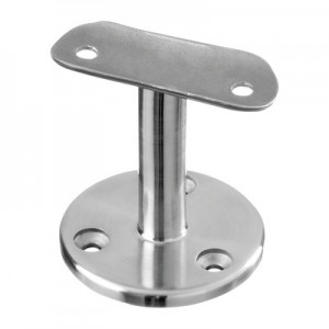 Q-Railing - Handrail bracket for wall mounting, handrail Dia 42.4 mm, stainless steel 304 interior, satin [PK2]