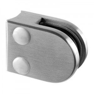 Q-Railing - Glass clamp, MOD 20, excl. rubber inlay, tube Dia 33.7 mm, stainless steel 304 interior, satin [PK4]