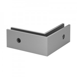 Q-Railing - Base shoe corner, Easy Glass Smart, fascia mount, outer corner, aluminium, raw