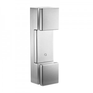 Q-Railing - Glass adapter with base plate, small, square, 12 - 21.52 mm glass, stainless steel 316 exterior, satin MOD 4762