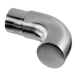 Q-Railing - End scroll, 90 degree, tube Dia 33.7 mm x 2 mm, stainless steel 304 interior, satin [PK2]