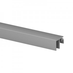 Q-Railing - Trim, Easy Glass Smart, top mount,10 mm, L=5000 mm, brushed aluminium, anodized
