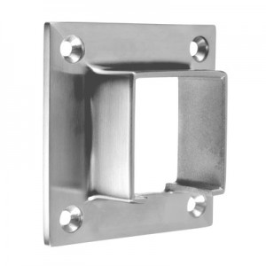 Q-Railing - Wall flange for cap rail, square, 40x40 mm, stainless steel 304 interior, satin [PK2]