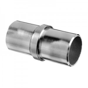 Q-Railing - Tube connector, tube Dia 12 mm x 1 mm, stainless steel 304 interior, satin [PK4]