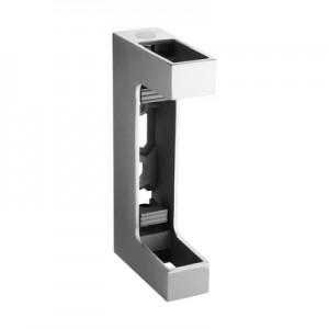 Q-Railing - Baluster bracket, Square Line, MOD 4558, fascia mount, tube 60x30 mm, st. steel 316 exterior, satin
