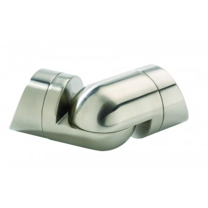 Richard Burbidge WMCB Fusion Commercial Brushed Nickel Wall Mounted Corner Connector