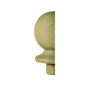 Richard Burbidge WONC2HALF Trademark White Oak Ball Newel Cap Half 90mm