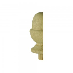 Richard Burbidge WONC3HALF Trademark White Oak Acorn Newel Cap 90mm Half