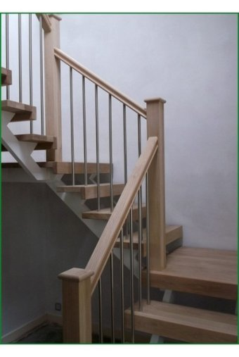 Oak And Steel Staircase