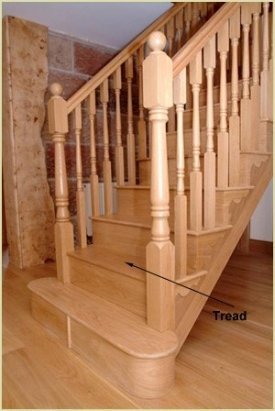 What is stair tread?