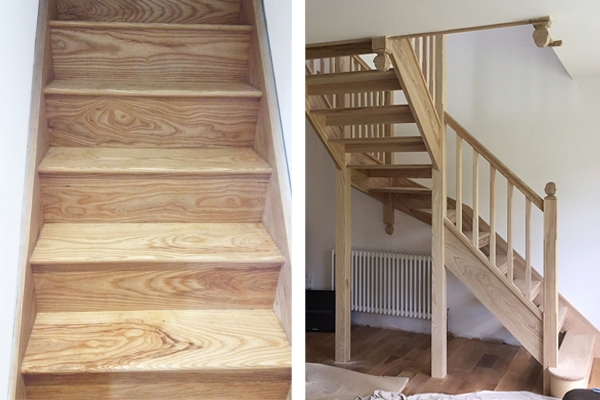 Staircases made with Ash wood