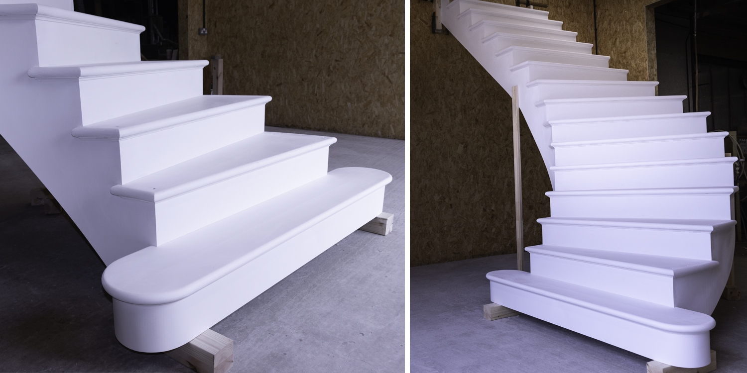 curved stairs, curved staircase, pear stairs