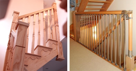 Hand Railing for stairs and landings in modern and traditional styles.