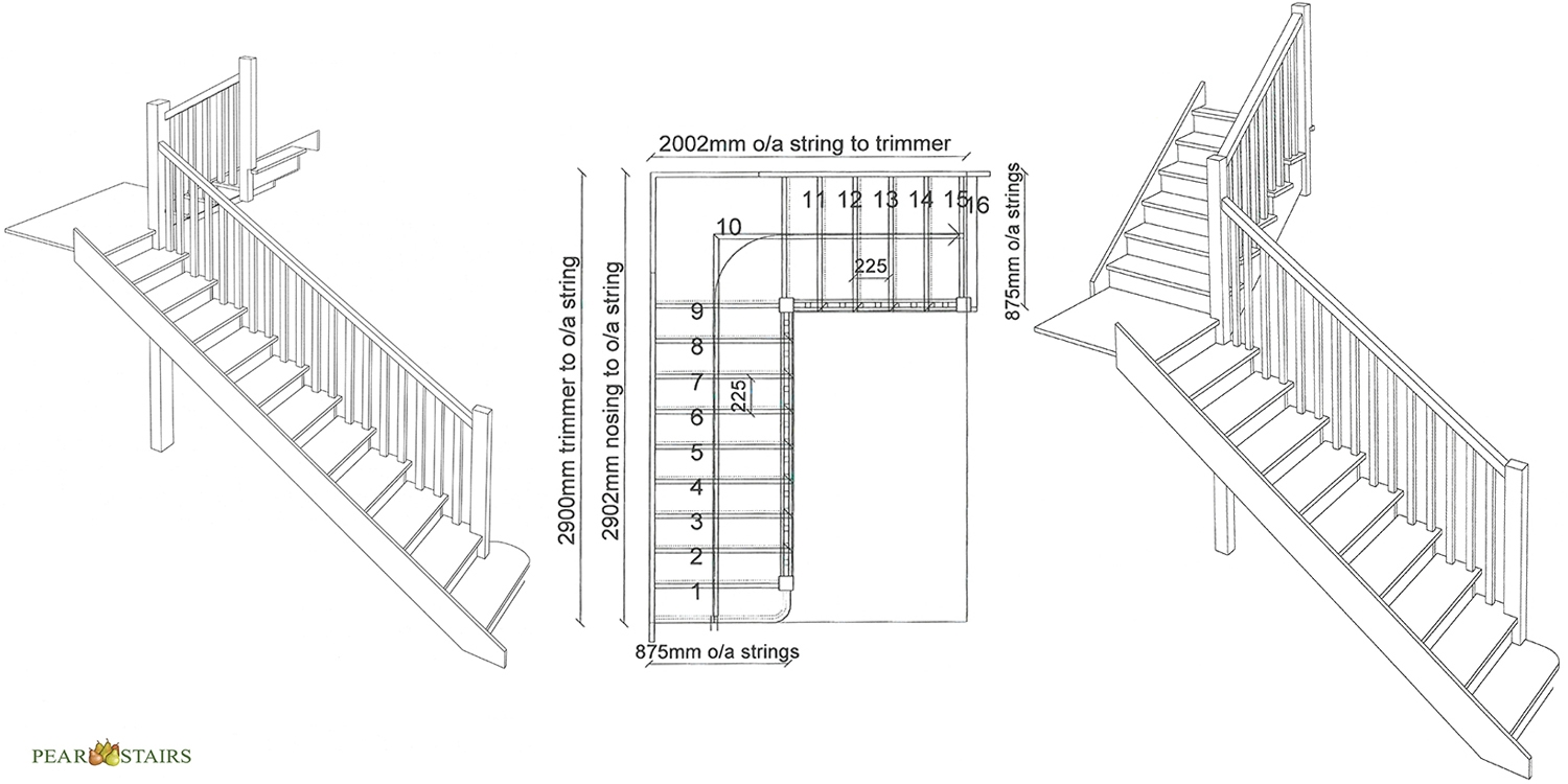 staircase design pear stairs, traditional stairs, classic staircase