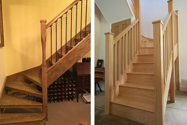 Staircases made from hemlick wood