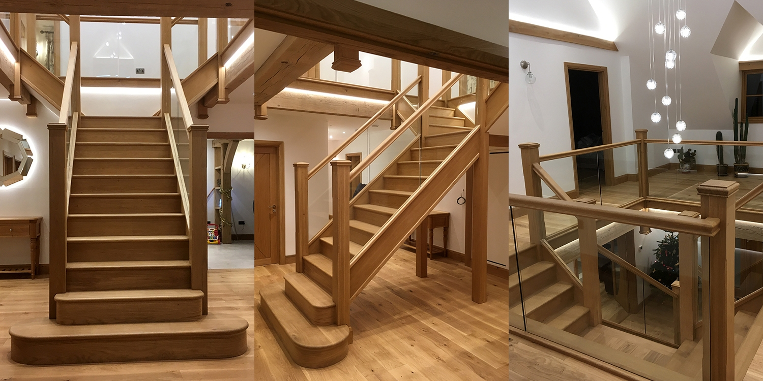 oak staircase, wooden staircase uk, staircase designer