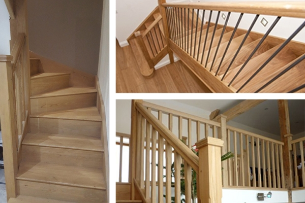 Oak hardwood is a great material to build staircases with