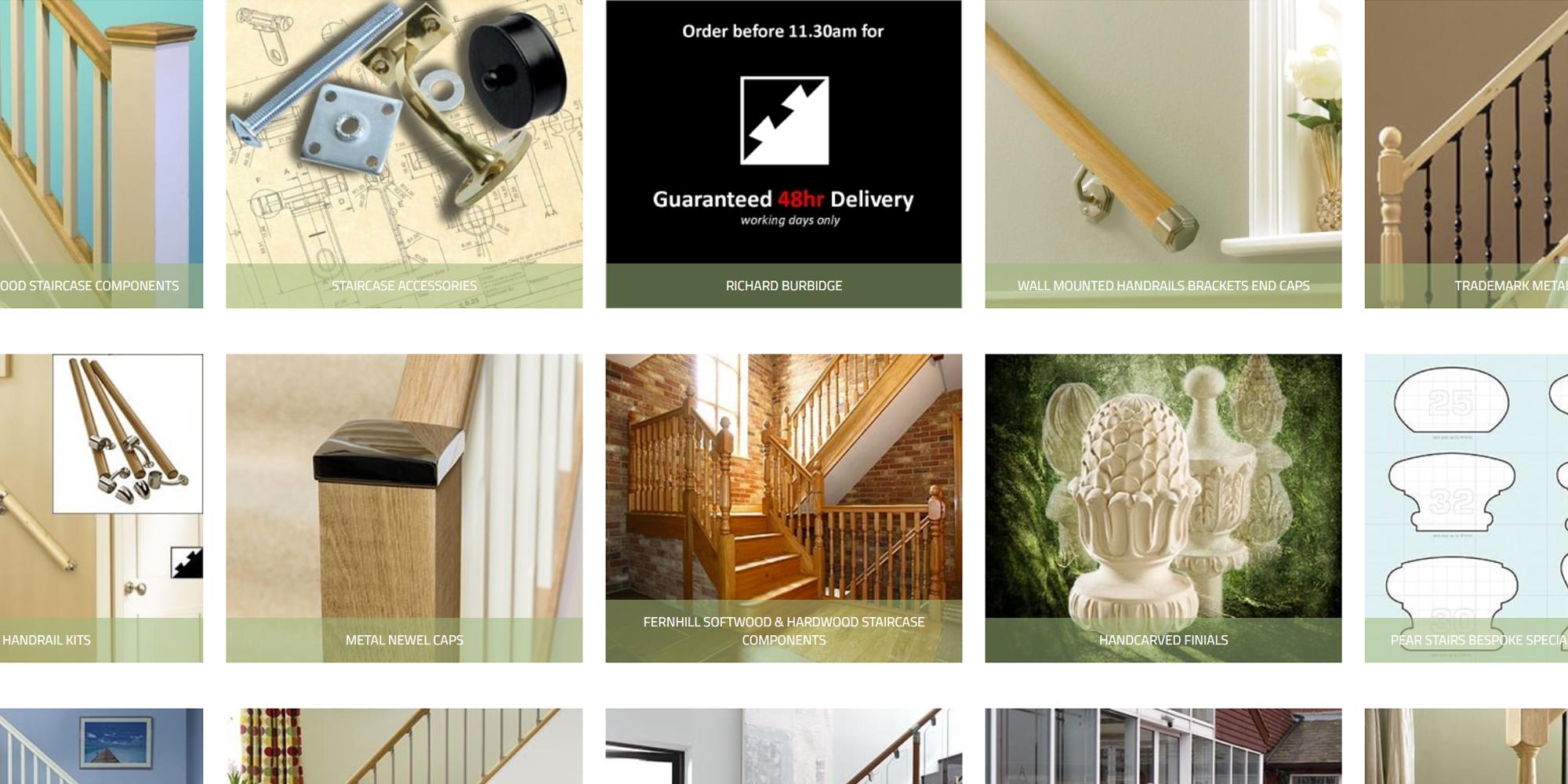 richard burbidge store, pear stairs store, stair pasrts online store, stair parts online