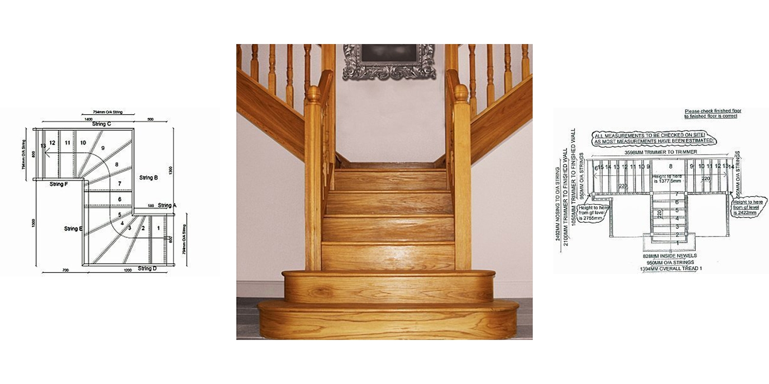 t shaped staircase, z shaped staircase, pear stairs