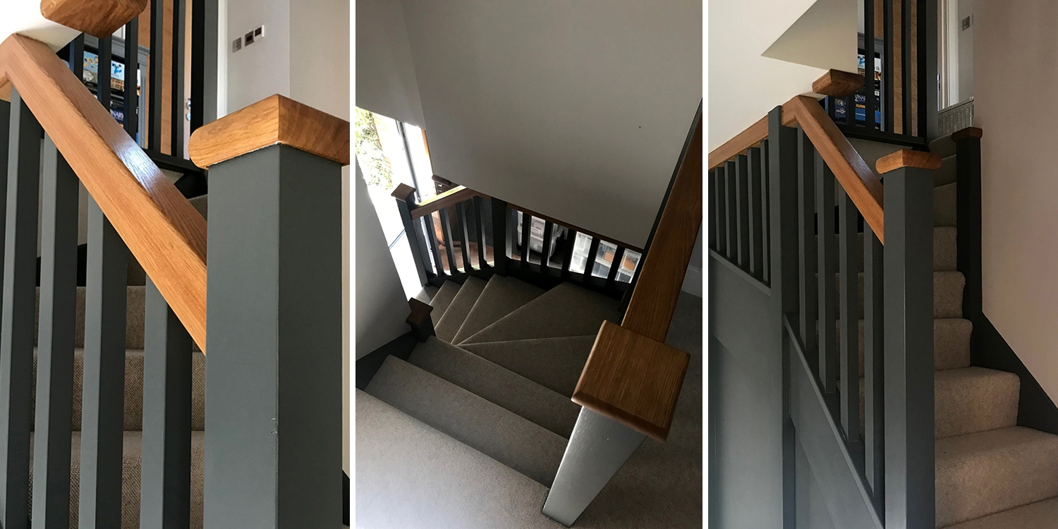 oxfordshire staircase by pear stairs, painted staircase