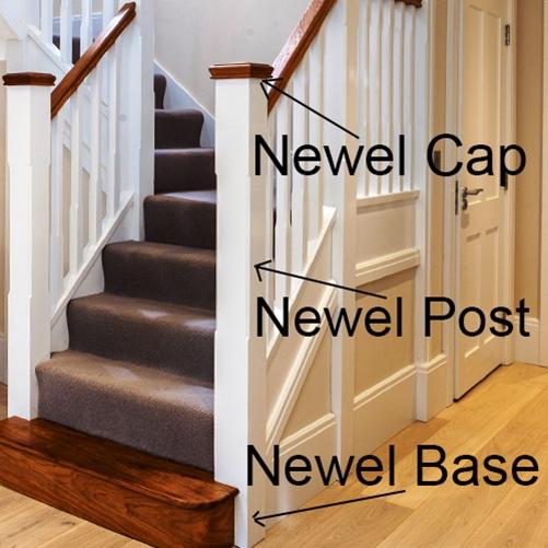 poteau de newel, escaliers de poire, newel