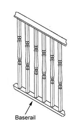 Balustrades with base rail