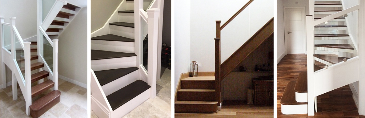 Various styles of glass balustrade for stairs and landing refurbishments