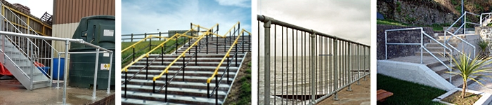 Some barrier and handrail systems supplied by Pear Stairs