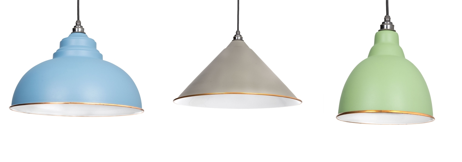 colourful light shade, pendant light, from the anvil
