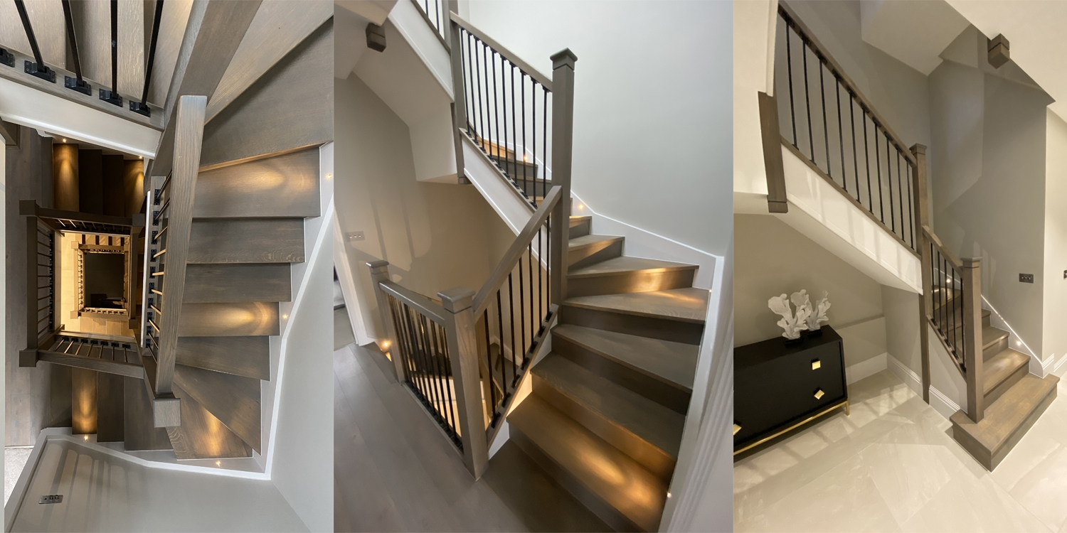 blossom houses staircase project, oak staircases