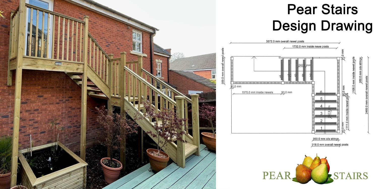 outdoor staircase design, pear stairs, outdoor staircase