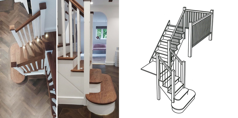inspirational walnut staircase idea