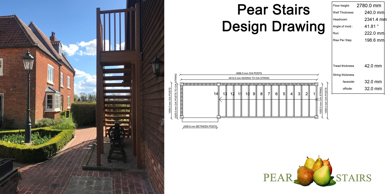 external staircase uk, outdoor hardwood staiirs, hardwood stairs uk