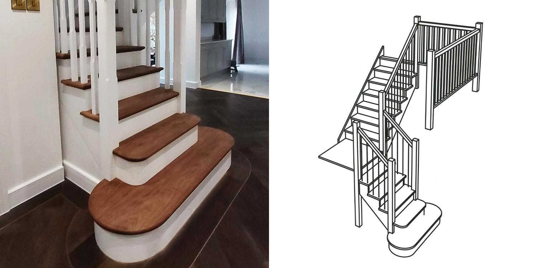 walnut staircase uk, uk hardwood stairs