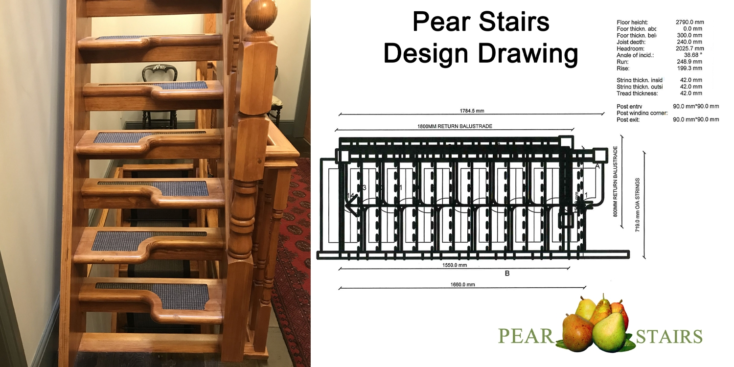 paddle staircase, loft staircase, pear stairs