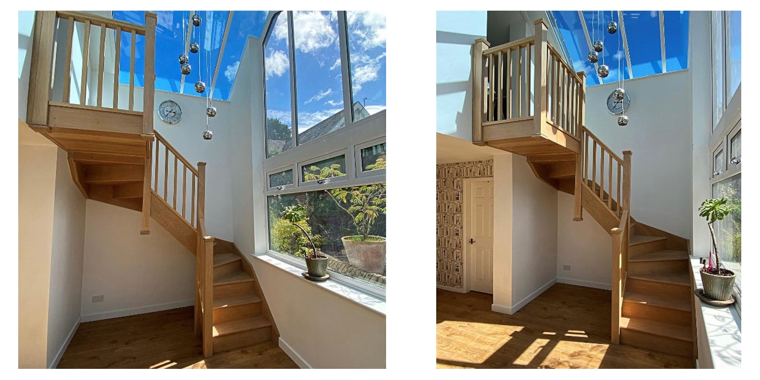 double winder staircase, oak staircase, chester staircase