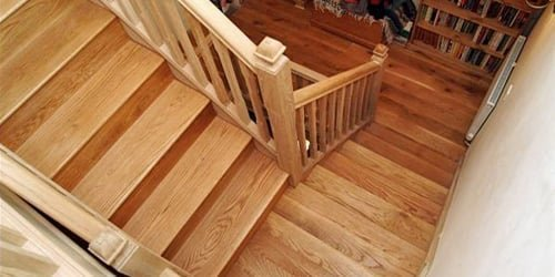 Oak staircase by Pear Stairs