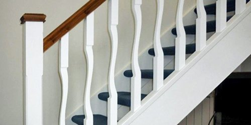 Painted Flo spindles by Pear Stairs
