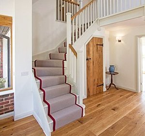 Painted softwood stairs can look as good as hardwood ones