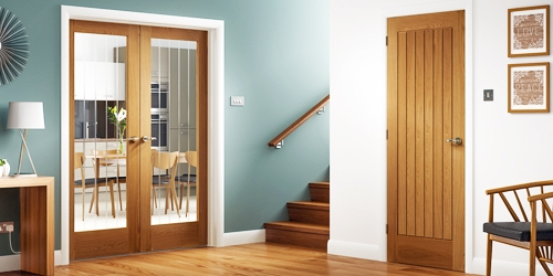 Suffolk oak doors in hallway