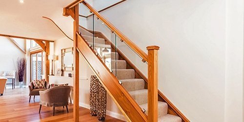 Oak and glass stairs, case study no. 579