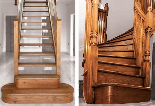 Two oak staircases by Pear Stairs