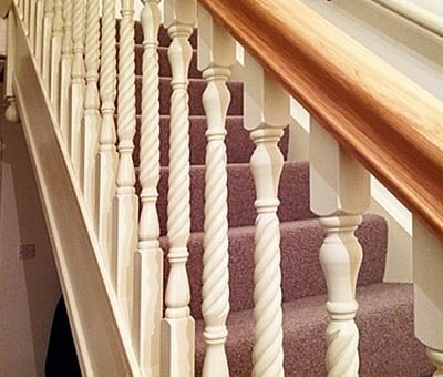Twist Spindles By Pear Stairs