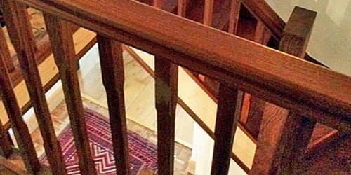 Sapele stair balustrade
