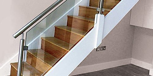 Glass staircase by Pear Stairs
