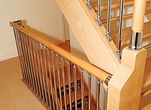 Fusion Mark 2 spindles with oak balustrade