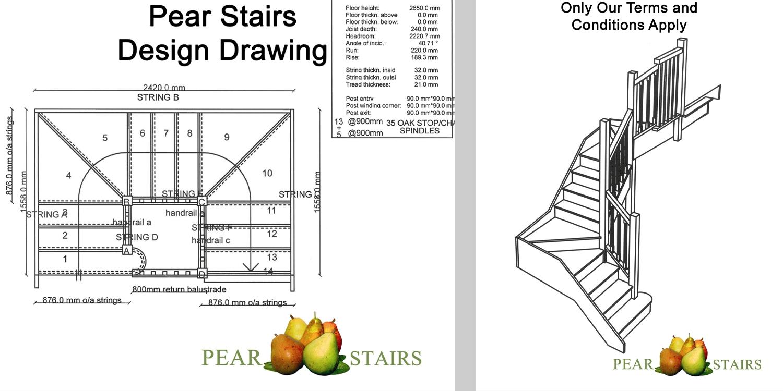 Oak Staircase Plan