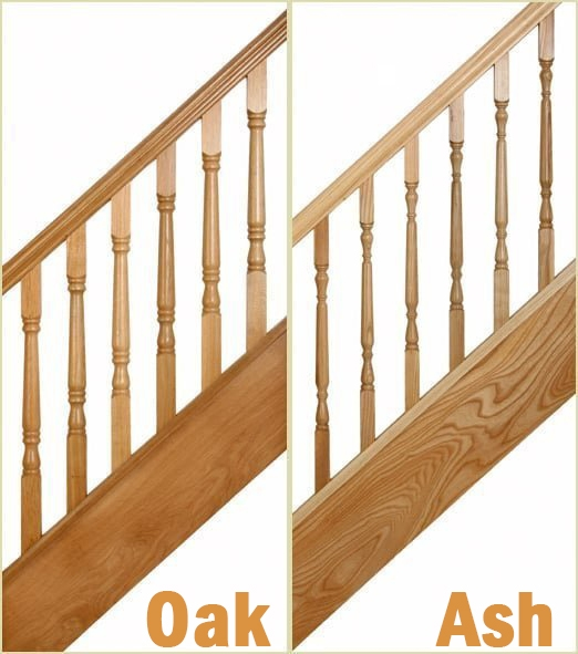 oak spindles, pear stairs, wooden spindles
